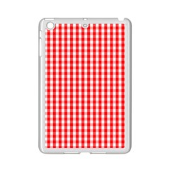 Christmas Red Velvet Large Gingham Check Plaid Pattern Ipad Mini 2 Enamel Coated Cases by PodArtist