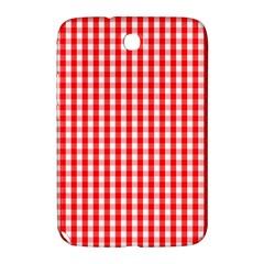 Christmas Red Velvet Large Gingham Check Plaid Pattern Samsung Galaxy Note 8 0 N5100 Hardshell Case  by PodArtist
