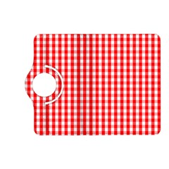 Christmas Red Velvet Large Gingham Check Plaid Pattern Kindle Fire Hd (2013) Flip 360 Case by PodArtist