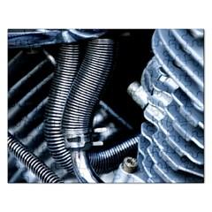 Motorcycle Details Rectangular Jigsaw Puzzl by BangZart