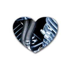 Motorcycle Details Heart Coaster (4 Pack)  by BangZart