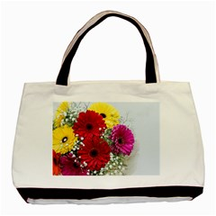 Flowers Gerbera Floral Spring Basic Tote Bag (two Sides) by BangZart