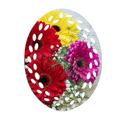 Flowers Gerbera Floral Spring Oval Filigree Ornament (two Sides) by BangZart