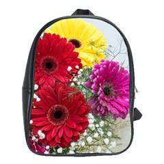 Flowers Gerbera Floral Spring School Bags (xl)  by BangZart
