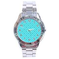 Pattern Background Texture Stainless Steel Analogue Watch by BangZart