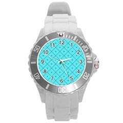Pattern Background Texture Round Plastic Sport Watch (l) by BangZart