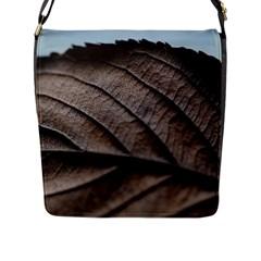 Leaf Veins Nerves Macro Closeup Flap Messenger Bag (l)  by BangZart