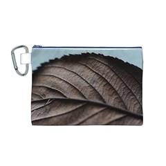 Leaf Veins Nerves Macro Closeup Canvas Cosmetic Bag (m) by BangZart