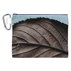 Leaf Veins Nerves Macro Closeup Canvas Cosmetic Bag (xxl) by BangZart