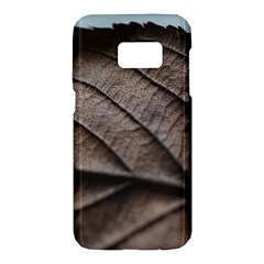 Leaf Veins Nerves Macro Closeup Samsung Galaxy S7 Hardshell Case  by BangZart