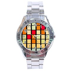 Mozaico Colors Glass Church Color Stainless Steel Analogue Watch by BangZart