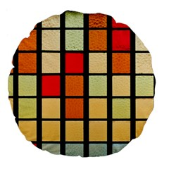 Mozaico Colors Glass Church Color Large 18  Premium Flano Round Cushions by BangZart