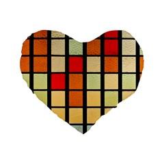Mozaico Colors Glass Church Color Standard 16  Premium Flano Heart Shape Cushions by BangZart