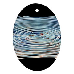 Wave Concentric Waves Circles Water Ornament (oval) by BangZart