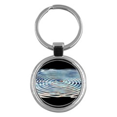 Wave Concentric Waves Circles Water Key Chains (round)  by BangZart