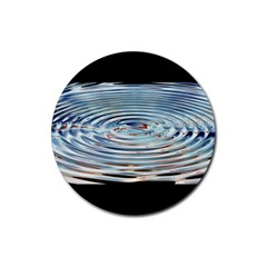 Wave Concentric Waves Circles Water Rubber Coaster (round)  by BangZart