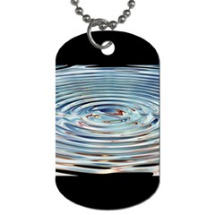 Wave Concentric Waves Circles Water Dog Tag (two Sides) by BangZart