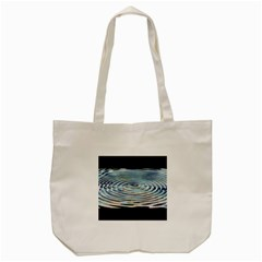 Wave Concentric Waves Circles Water Tote Bag (cream) by BangZart