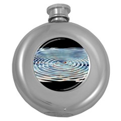 Wave Concentric Waves Circles Water Round Hip Flask (5 Oz) by BangZart