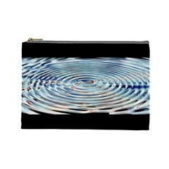 Wave Concentric Waves Circles Water Cosmetic Bag (large)  by BangZart