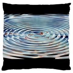 Wave Concentric Waves Circles Water Large Cushion Case (two Sides) by BangZart
