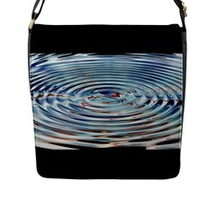 Wave Concentric Waves Circles Water Flap Messenger Bag (l)  by BangZart