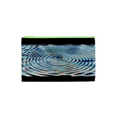 Wave Concentric Waves Circles Water Cosmetic Bag (xs) by BangZart