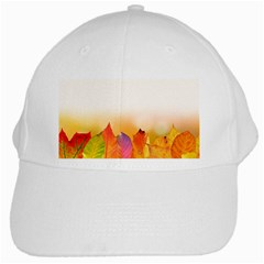 Autumn Leaves Colorful Fall Foliage White Cap by BangZart