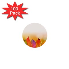 Autumn Leaves Colorful Fall Foliage 1  Mini Buttons (100 Pack)  by BangZart