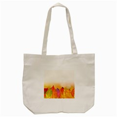 Autumn Leaves Colorful Fall Foliage Tote Bag (cream) by BangZart