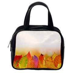 Autumn Leaves Colorful Fall Foliage Classic Handbags (one Side) by BangZart