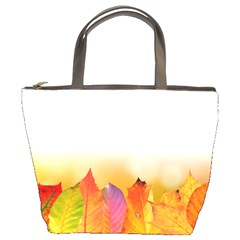 Autumn Leaves Colorful Fall Foliage Bucket Bags by BangZart