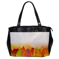 Autumn Leaves Colorful Fall Foliage Office Handbags by BangZart