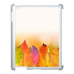Autumn Leaves Colorful Fall Foliage Apple Ipad 3/4 Case (white) by BangZart