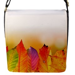 Autumn Leaves Colorful Fall Foliage Flap Messenger Bag (s) by BangZart
