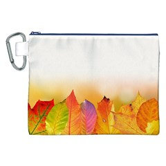 Autumn Leaves Colorful Fall Foliage Canvas Cosmetic Bag (xxl) by BangZart