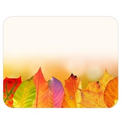 Autumn Leaves Colorful Fall Foliage Double Sided Flano Blanket (medium)  by BangZart