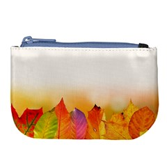 Autumn Leaves Colorful Fall Foliage Large Coin Purse by BangZart