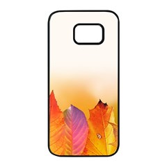 Autumn Leaves Colorful Fall Foliage Samsung Galaxy S7 Edge Black Seamless Case by BangZart