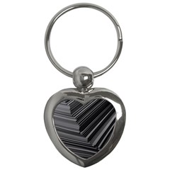 Paper Low Key A4 Studio Lines Key Chains (heart)  by BangZart