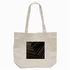 Paper Low Key A4 Studio Lines Tote Bag (cream) by BangZart
