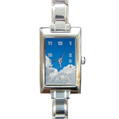 Sky Clouds Blue White Weather Air Rectangle Italian Charm Watch by BangZart