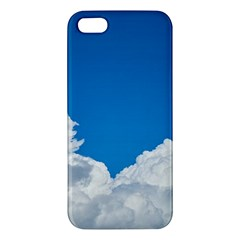 Sky Clouds Blue White Weather Air Apple Iphone 5 Premium Hardshell Case by BangZart