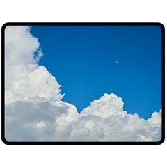 Sky Clouds Blue White Weather Air Double Sided Fleece Blanket (large)  by BangZart