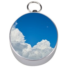 Sky Clouds Blue White Weather Air Silver Compasses by BangZart