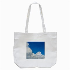 Sky Clouds Blue White Weather Air Tote Bag (white) by BangZart