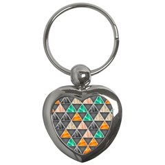 Abstract Geometric Triangle Shape Key Chains (heart)  by BangZart