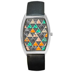 Abstract Geometric Triangle Shape Barrel Style Metal Watch by BangZart
