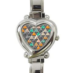 Abstract Geometric Triangle Shape Heart Italian Charm Watch by BangZart