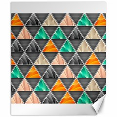 Abstract Geometric Triangle Shape Canvas 8  X 10  by BangZart